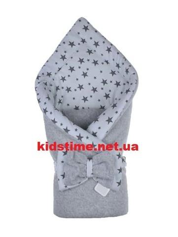 Конверт для новорожденных на выписку Звездное небо серый