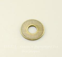 Микро-шайба TierraCast 6 мм (цвет-античная латунь), 5 штук