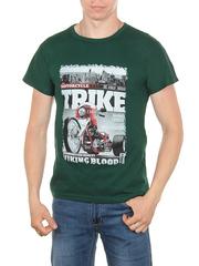 11113-3 футболка мужская,  зеленая
