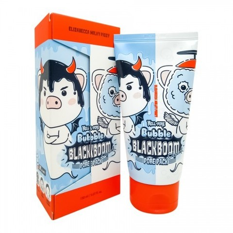 Кислородная маска Elizavecca Hell-Pore Bubble Blackboom Pore Pack 150ml.