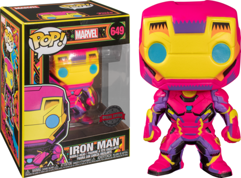 Iron Man Marvel: Black Light Special Edition Funko Pop! || Железный Человек