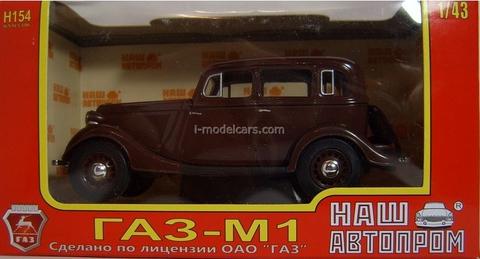GAZ-M1 dark red 1:43 Nash Avtoprom