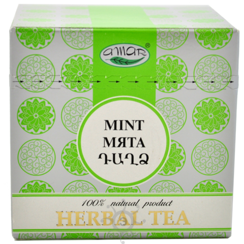 Чай травяной Мята Амар, в пакетиках 20х2г