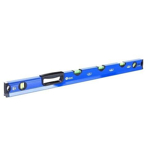 Уровень строительный КОБАЛЬТ 800 мм, профиль 28 x 60 мм,  5 глазков, 1 ручка, V-паз, точность 1,0 мм/м, для водных работ