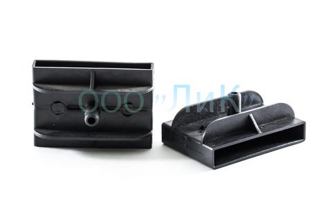 Латодержатель 53 мм двойной, проходной черный с перегородкой