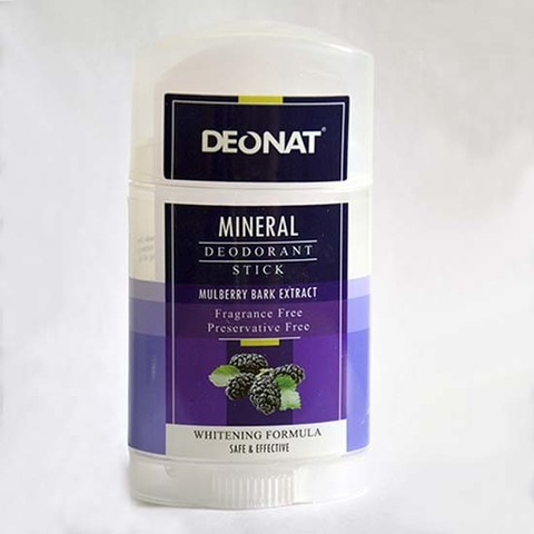 Deonat, Минеральный дезодорант Кристал с  экстрактами коры тутовника (лиловый футляр, лиловый стик), 100гр