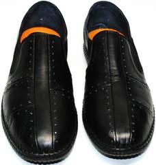 Мокасины кроссовки мужские Luciano Bellini 107607 Black.