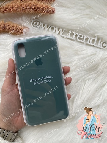 Чехол iPhone X/XS Silicone Case /pine green/ сосновый лес 1:1