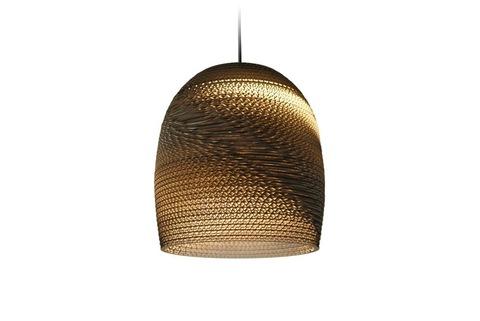 эко светильник из картона