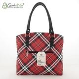 Сумка Саломея 411 шотландский красный + черный