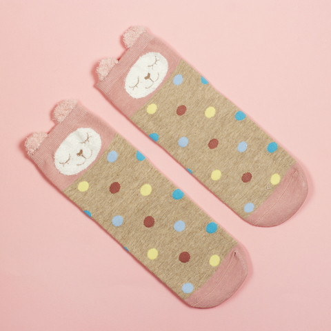 Носки Pastel Fantasy Pink Cat Rainbow Dots
