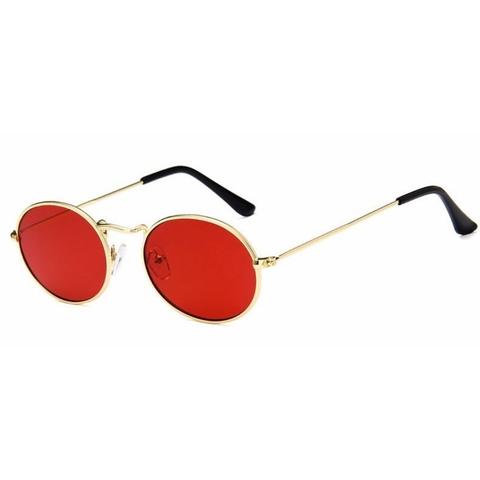 Солнцезащитные очки 7046002s Красный с золотой оправой