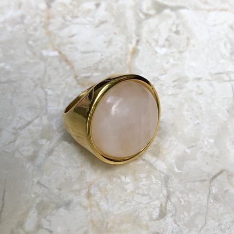 Кольцо Катара с нежно-розовой вставочкой