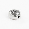 "Бусина овальная TierraCast ""Буква E"" 7х6х3 мм (цвет-античное серебро)"