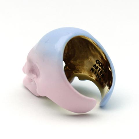 Кольцо Череп (кварц/безмятежность)