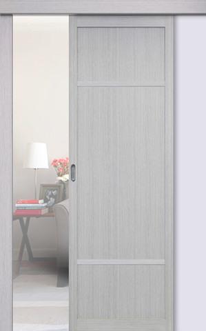 Перегородка межкомнатная Optima Porte 131.111, цвет дуб серый, глухая (за 1 кв.м)