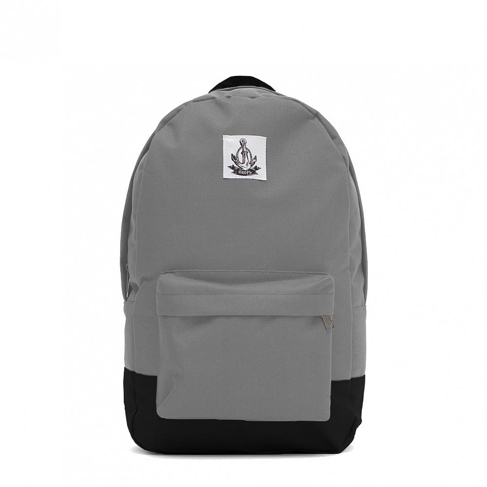 Рюкзак ЯКОРЬ Малый бот II ранга Светло-серый / черный кожзам