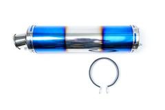 Глушитель для Honda CB 400 цвета сине-серебрянный