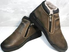 Зимние ботинки из натуральной кожи Rifellini Rovigo 046 Brown Black.