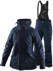 Тёплый горнолыжный костюм Beata Zip-In Jacket Poppy Navy 2018 женский