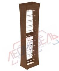 ОСТ2К-530 Стеллаж обойный криволинейный 2400х590х450 мм