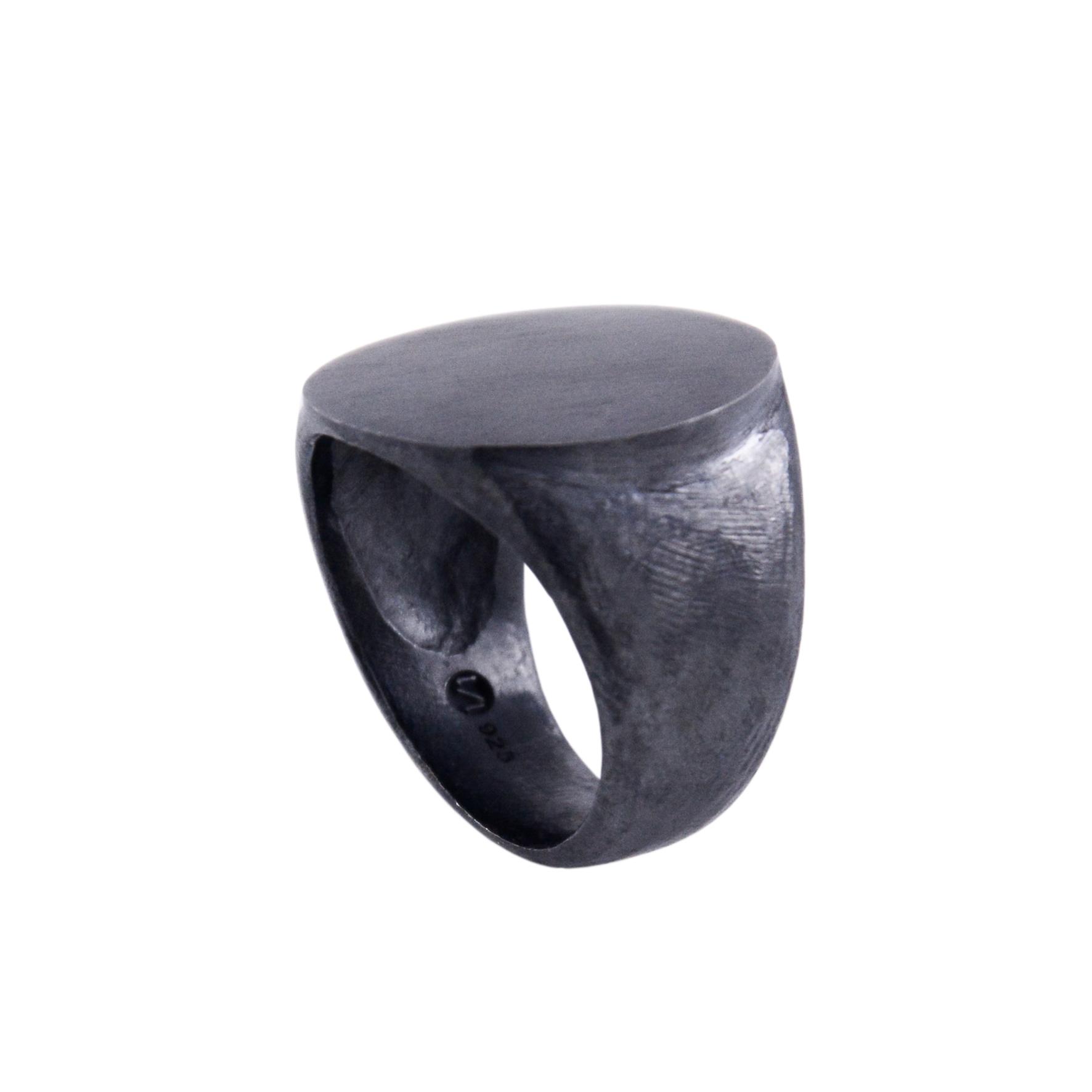 SIGNET RING IV - BLACK