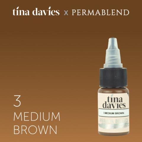 3 Medium Brown • Perma Blend • пигмент для бровей