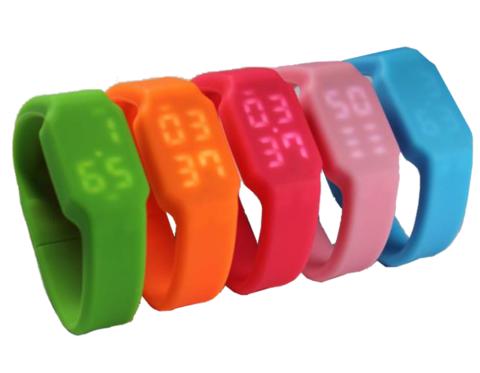 usb флешка часы силиконовые на 8, 16, 32 и 64 гб