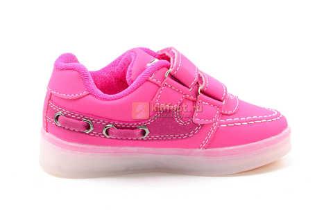 Светящиеся кроссовки с USB зарядкой Бебексия (BEIBEIXIA) для девочек цвет розовый. Изображение 3 из 15.