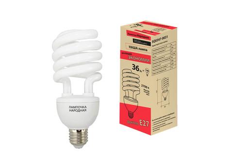 Лампа люминесцентная НЛ-HS-36 Вт-2700 К–Е27