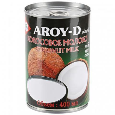 Кокосовое молоко AROY-D 60%, 400 мл, ж/б