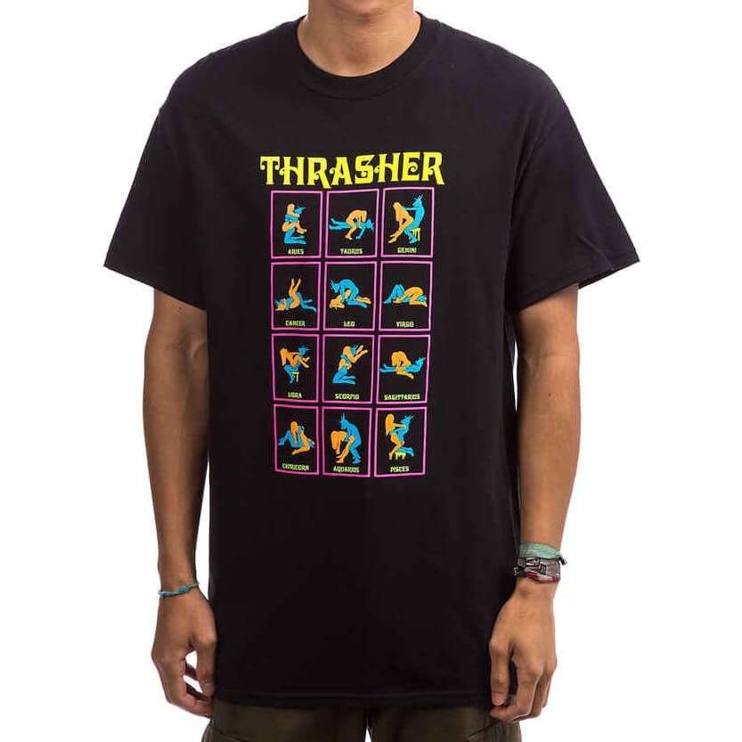 Футболка THRASHER Black Light (Black)
