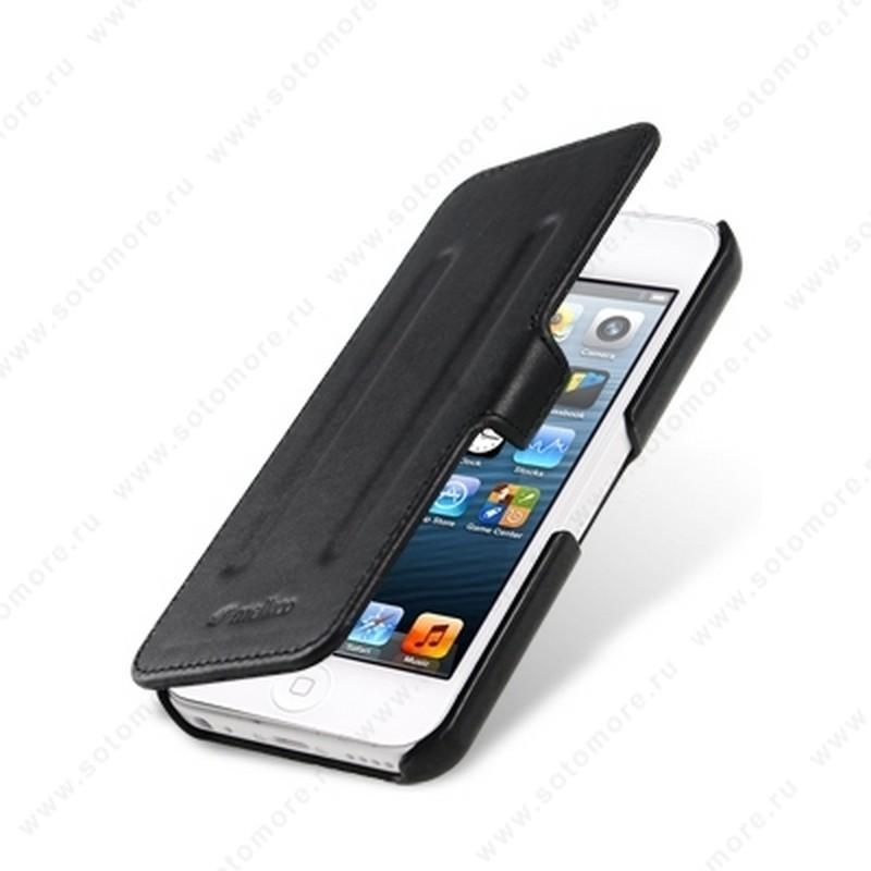 Чехол-книжка Melkco для iPhone SE/ 5s/ 5C/ 5 Leather Case Booka Type Craft Limited Edition Prime Twin (Black Wax Leather)