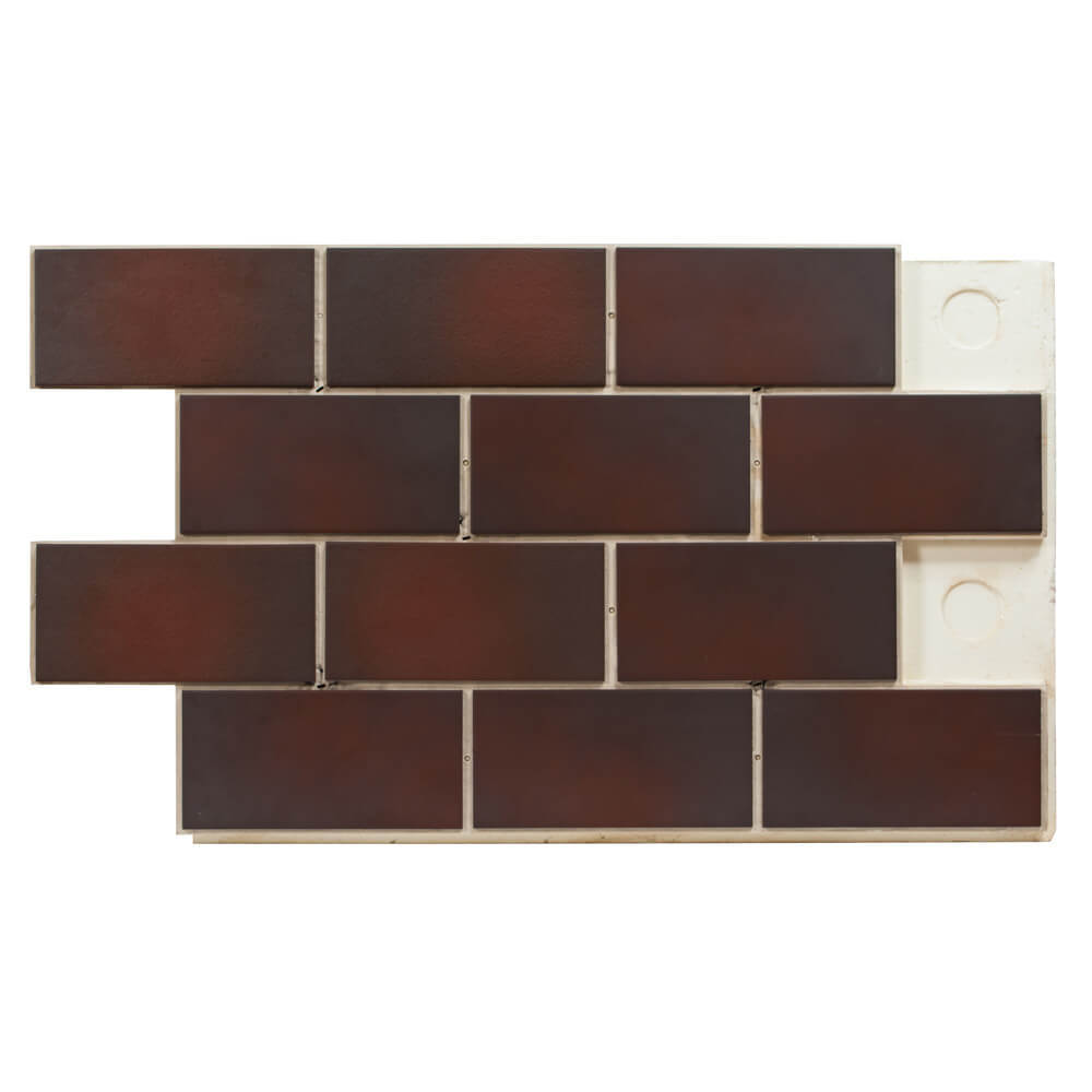 Термопанель цокольная Регент, плитка Paradyz, Cloud brown, Duro, толщина 40 мм
