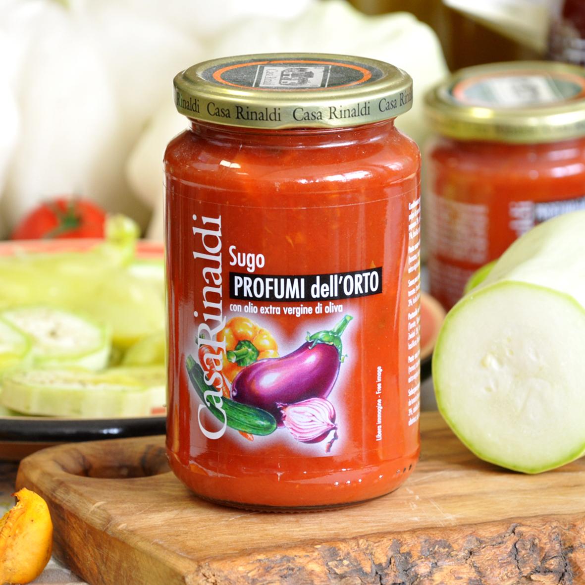 Соус Casa Rinaldi томатный с садовыми овощами 350г