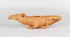 """Декоративный элемент """"С-01"""" - цветочница (Крокодил) —  Медовый дуб (MK-3418)"""