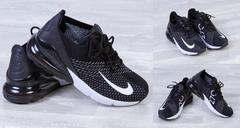 """Обувь мужская 7007 Кроссовки """"9176-NK"""" Черные с Белым"""
