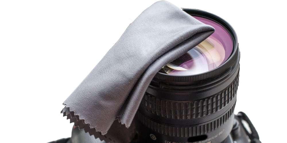 Салфетка из микрофибры для очистки оптики Lenspen MK-1 MicroKlear на оптике