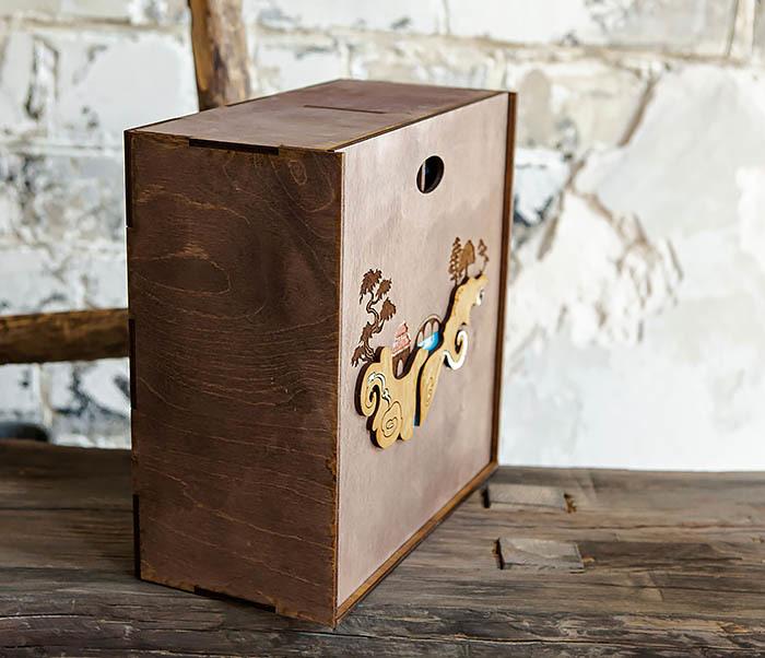 BOX233-3 Большая коробка «Синано» с художественной росписью (25*25*12 см) фото 08