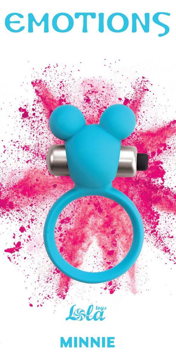 Эрекционные кольца: Голубое эрекционное виброколечко Emotions Minnie Breeze