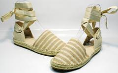 Обувь на лето женская Small Swan OM243-4Beige.