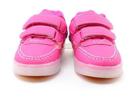 Светящиеся кроссовки с USB зарядкой Бебексия (BEIBEIXIA) для девочек цвет розовый. Изображение 4 из 15.
