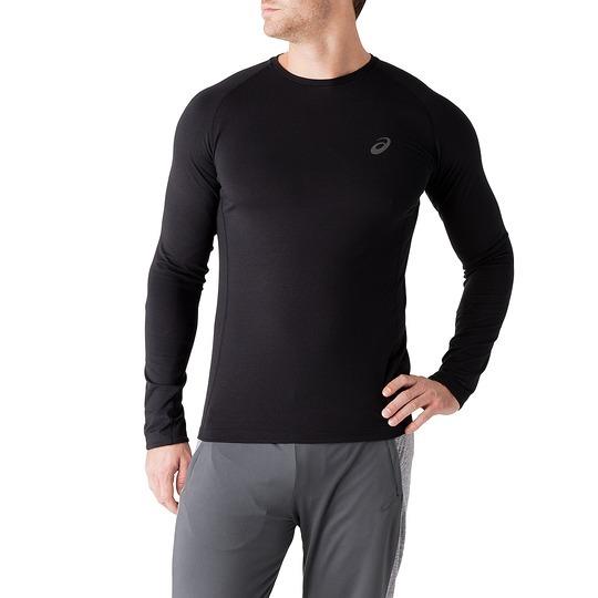 Мужская беговая  рубашка Asics FujiTrail BaseLayer (124795 0904) черная фото