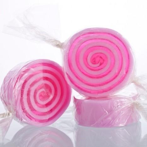Мыло-конфета Малина (Мало в форме кексов и сладостей) (Autour Du Bain)