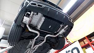 Выхлопная система Capristo для Mercedes C63 AMG W205