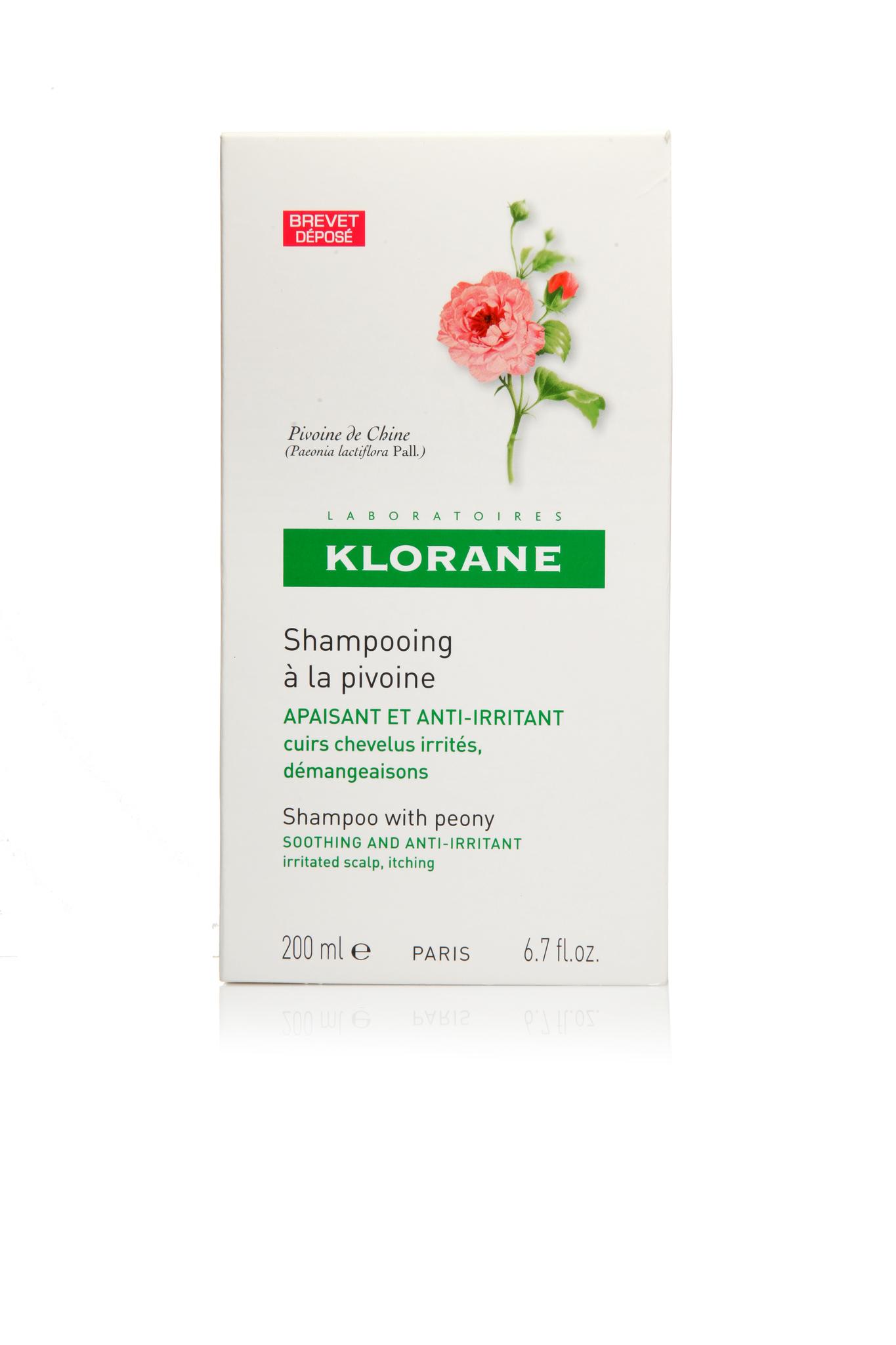 Klorane шампунь c экстрактом пиона успокаивающий 200 мл.