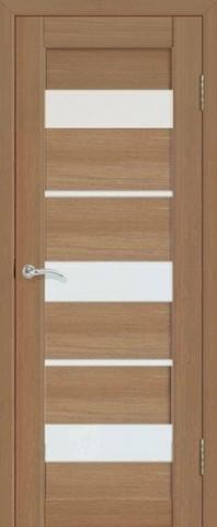 Дверь La Stella 200, стекло матовое, цвет тиковое дерево, остекленная