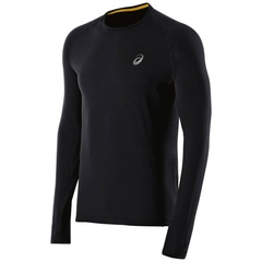 Мужская рубашка для бега Asics FujiTrail BaseLayer (124795 0904) черная фото