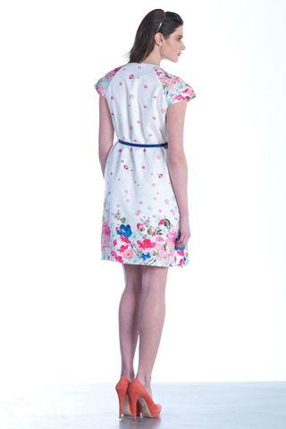 Платье 07546 цветочный принт