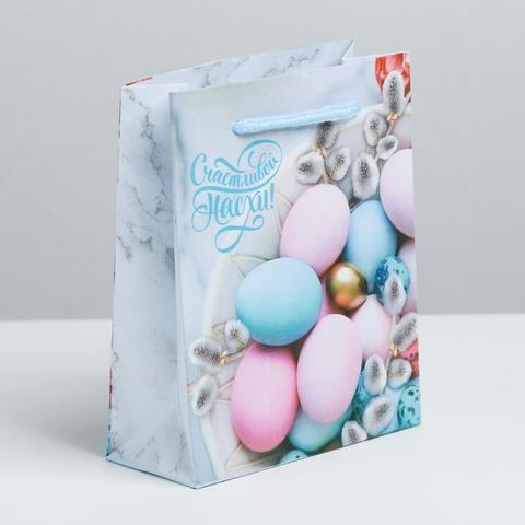 Пакет ламинированный вертикальный «Счастливой Пасхи!», 12х15х5.5 см